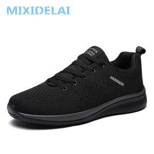 MIXIDELAI New Mesh homme Souliers simple Lac-up Hommes Chaussures légères Chaussures de sport confortable marche respirant Tenis Feminino