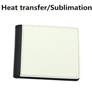 Fedex Sublimation hommes de presse de chaleur portefeuille bourse de portefeuille sac d'argent diy PU cuir blanc mieux sur mesure diy