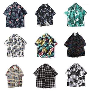 Wear Men Summer Beach Floral Shirts Hawaii Style Casual Shirt Short Sleeved Holiday Clothing