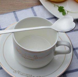 Gli amanti a forma di cuore Love Coffee Tea Cucchiaio dosatore L'amante del matrimonio favorisce il servizio da tavola in acciaio inossidabile Cucchiaio da caffè 2 in1