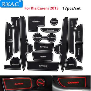RKAC per Kia Carens 2013 Slot Porta Pad Car Anti Slip Mats 3D Rubber Mat Coppa cuscino polvere stuoia Porta Slot Accessori auto