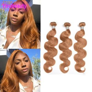 Pérou 100% humain miel cheveux 27 # Body Color Wave 27 # Remy gros Yirubeauty vague de corps Tissages cheveux