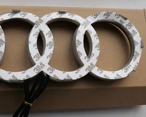 Logo Auto Car Motors Frente LED Led Grille Bulb Emblem Lâmpada Luz Para Audi A1 A3 A4 A5 RS3 27X9.5 Branco Vermelho Azul Q3 Q5 Q7 A6 A7 28.8X9.9cm