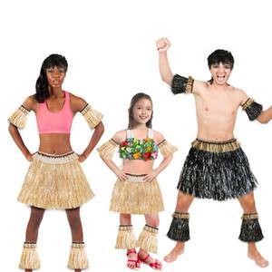 Braccio elastico Bardian hawaiana Erba Gonne Kit Covers Maniche piede Strae pannello esterno del partito misura il festival decorazione costume 5pcs 15cke1