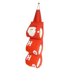 천 산타 클로스 타올 세트는 크리스마스 휴일 파티 화장지 가방 홀더 욕실 서류 가방 파우치 크리스마스 홈 인테리어 커버