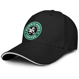 Unisexe Miami Hurricanes Starbucks Green Fashion Baseball Sandwich Hat baseball meilleur pilote de camion Cap le football logo noir Cocotier