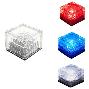 7 colores cambiantes Iluminación exterior Césped solar simulación lámpara cubo de hielo luz noche lámpara jardín plaza decoración del banquete de boda iluminación