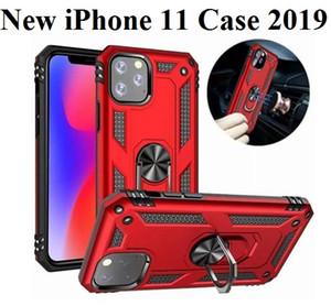 Pour iphone 11 Pro Max 2019 7 8 6 6 S Plus Case De Luxe Armure Anneau Magentic Silicone Téléphone Cas pour iphone X XR XS Max Couverture Arrière Coque