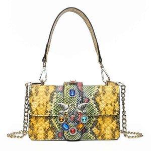 motif serpent cuir dames nouveau style de haute qualité sac PU épaule de mode concepteur sac à bandoulière