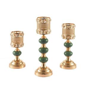 Cristal Candlestick plaqué or Bougie stand détenteurs Bougie de mariage Home Center Table Centerpieces Décoration
