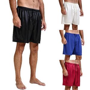 Новые мужские атласной пижамы пижамы свободного покроя гостиная сна пижамы шорты короткие брюки спать днища