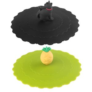 Anti-Dust Silicone Lids For Tea Cup Cover Silicone Leakproof Cup Lids Heat Resistant Reusable Sealed Cover Kitchen Accessories