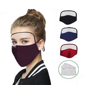 DHL Ship!2020 HOT 2 in 1 Face Mask Shield Mask Adult Kids Anti Dust Face Masks Full Face Protection Anti Fog Oil Protective Mask