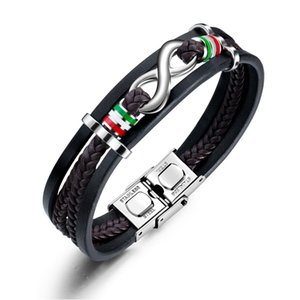 Hot sale Europe and America jewelry multi-layer woven leather bracelet infinite 8 word leather rope bracelet 3-PH1323