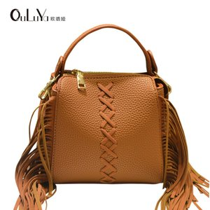 Overseas2019 Weave Ma'am Guangzhou Tassels Handbag Single Shoulder Satchel Packet Pacchetto donna