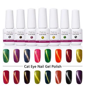 Ímã Gel Unhas Polonês 3D Efeito Olho de Gato Gel UV Esmalte De Unha Soak off 58 Cores Camaleão Vernizes Gel Magnético Manicure laca