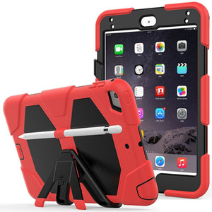 Heavy Duty Robot Armor Defender Rugged Hybrid Kickstand Case for ipad mini 5 4 3 2 tablet Cover Drop Resistance