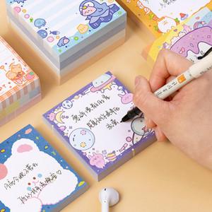 100Pcs lot Rainbow Notepad Cute Bear Cartoon Memo Pad School Supplies Paper Stationary Office Decoration Accessories