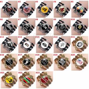 23 style I can't breathe bracelet Hand woven chain bracelets BLACK LIVES MATTER time jewel Bracelet Party Favor T9I00409