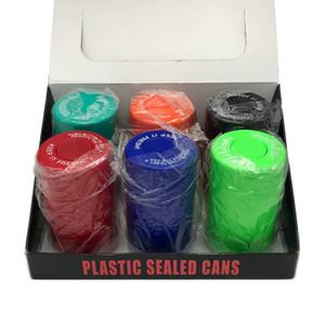 Alta Cheiro Qualidade Proof Vacuum recipiente de plástico Latas fechados hermeticamente Secret Stash Containers Dry Herb Box Pill Box Caso Jar em stock