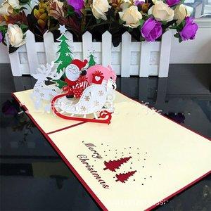 Festival Cards Christmas Merry 3D Anno nuovo Benedizione Popula Card Idea tridimensionale creativa Vendita diretta in fabbrica 8sm p1