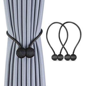 2 Packs Magnetic Curtain Tiebacks, Convenient Drape Tie Backs, Curtain Holdbacks Holder