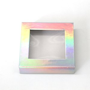 New arrival Laser false eyelash packaging Box 3D Mink Eyelash eye lashes boxes Cardboard Paper Empty Eyelash Box