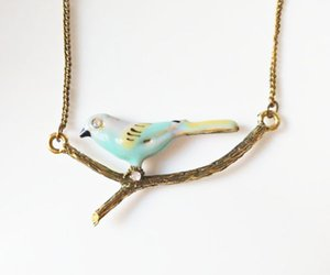Hot Fashion Jewelry Vintage Solid Cute Bird Branch Pendant Necklace