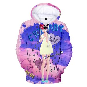 Teenager Girl Hoodie delle donne del progettista Crybaby 3D Printed cappuccio Felpe Carino Pullover