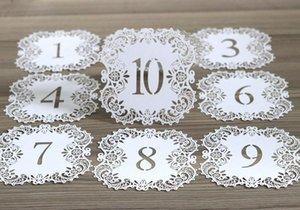 Corte láser hueca de estar Tarjetas NO.1-20 Asiento cordón hermoso Digital Card Tarjeta para la fiesta de boda romántico de eventos Artículos de HHA427