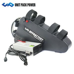 Batería triangular de bicicleta eléctrica UPP 52 V 21Ah con Sanyo LG Samsung Cell + cargador rápido 4A 48 V 1000 W Bafang de la batería