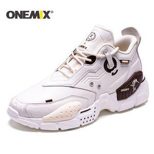 ONEMIX Raod Esecuzione in pelle da uomo Scarpe da tennis degli uomini Vamp Lace Up Donne paltform Scarpe Donna Chunky papà Scarpe Uomo Walking
