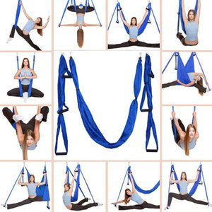New Anti-gravity Aerial Yoga Ceiling Multifunction Hammock Flying Swing Trapeze Yoga Inversion Device Home GYM Hanging Belt