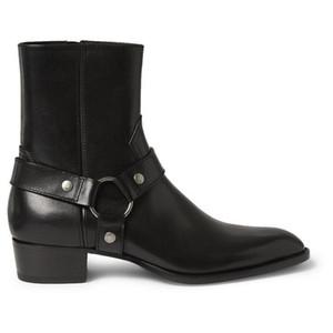 Erkek d01 için Toptan-Tozlu Tarçın Tan Süet Biker Boots Süet Deri Bilek Erkek Çizme Menace Eril Fermuar Up Düşük Topuk Zapatos Ayakkabı