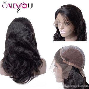 Brazilian Body Deep Wave Full Lace Human Hair Wigs Cheap Peruvian Lace Front Wigs For Black Women Girl Raw Indian Remy Virgin Hair