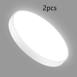 Tavan Lambaları LED Lamba 2pcs 110V 300mm 20W LED İnce Tavan Lambası Yuvarlak Beyaz Işık Soğuk