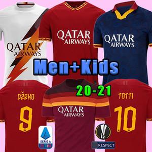 Thai DZEKO PEROTTI PASTORE Zaniolo calcio maglia Roma 2019 2020 TOTTI maglie kit camicia 19 20 21 di calcio DE ROSSI come maillot de Roma piede
