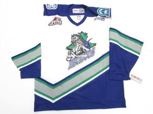 barato costume SWIFT CURRENT BRONCOS WHL VINTAGE CCM hockey jersey ponto adicionar qualquer número qualquer nome Mens Hockey Jersey XS-6XL