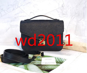 Высочайшее качество Женщины дизайнер полный черный вздутий сумки кошельки плеча женщин моды ПУ-кожа сумка bagsM40780 крест тела