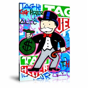 Alec monopoly Holding Money 6-1,HD Canvas Printing New Home Decoration Art Painting (Unframed Framed)