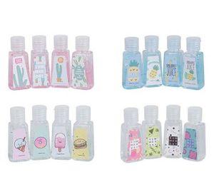 De dibujos animados desechables Jabón Líquido Loción 30ml portátil de color desinfectante de manos sin limpieza desinfectantes para manos azar 10pcs