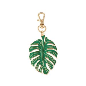 Keychain Personalidade decorativa Titular Green Leaf Moda Chaveiro Belas Pingente Chave para Backpack Carteira Carros Handbag