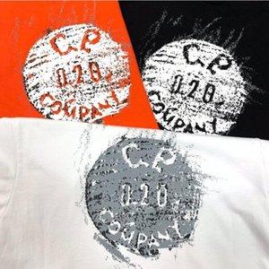 2020 summer new C. P company 020 button printing мужчины и женщины пары футболка с короткими рукавами хорошее качество