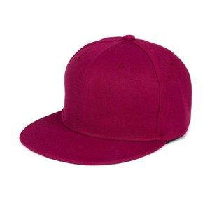 Solid color simple wine Red Baseball hat Fashion Unisex Plain Snapback Hats Hip-Hop Adjustable Baseball Cap visera mujer #SMT