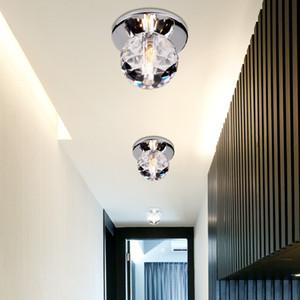 أضواء السقف K9 كريستال الكرة الصمام مصابيح السقف الحديثة بريقا مصابيح لشرفة المدخل ديكور داخلي إضاءة المنزل