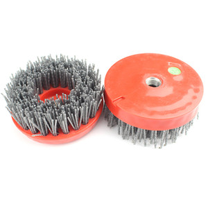 6 PCS 4 Inch D100mm Round Silicon Carbide Antique Brush For Stone Processing Steel Polishing Brush for Automatic Bridge Polishing Machine
