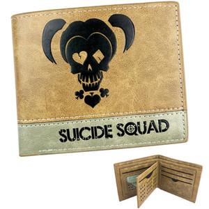 Portefeuille Harley Quinn Porte-cartes Suicide Squad Étui pour billets de banque en cuir avec film Patchwork Sac à billets en argent Porte-monnaie