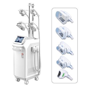 Alto rendimiento de 5 cabezas crio reducción de grasa salón de belleza de la máquina de adelgazamiento vacío criolipólisis grasa reducir la eliminación de la celulitis