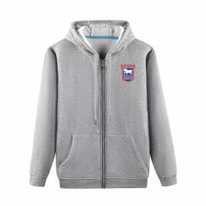 2020 veste longue ipswich capuche Vêtements de sport de football de football Survêtement Full-Zip veste Voyage formation à capuchon Vestes d'homme