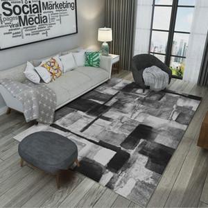Padrão geométrico de estilo nórdico Sala de desenho Sala de estar Tapete de estudo Tapete de chão Mesa de chá Pé pad Porta Tapete de entrada Lavar fácil Anti-skid